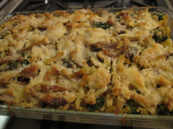 Turkey tetrazzini can feed a large crowd.