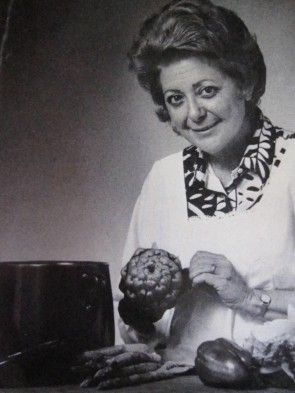 The photo of Marcella Hazan that appeared in her first cookbook.