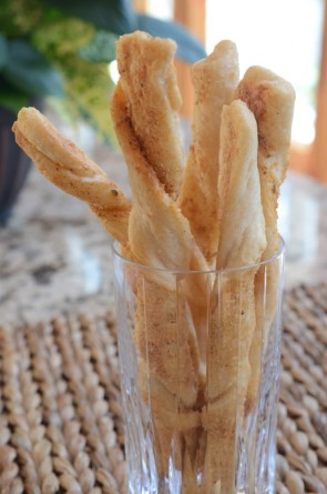 Parmesan bread twists make a simple Italian recipe that takes just minutes to make.