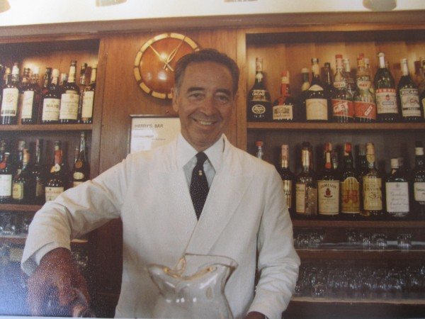 Head barman Ruggero in Harry's Bar Venice.
