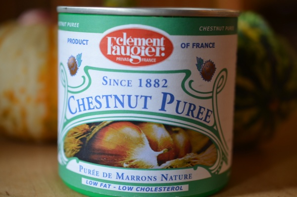 Chestnut pureé, a key ingredient in creamy chestnut soup,  can be found at specialty stores on ordered on the internet.
