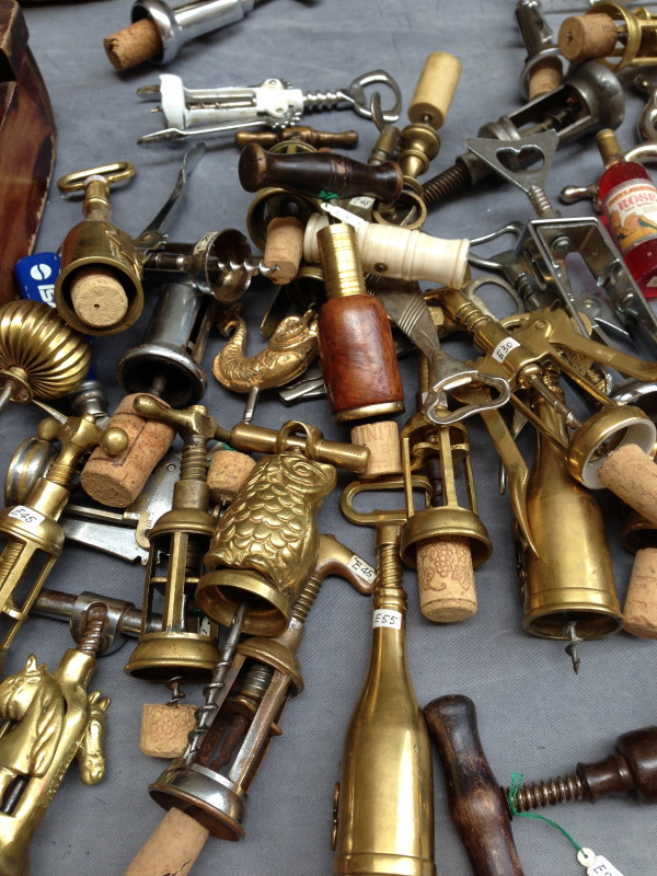 I love this collection of wine openers at the Arezzo Antique/Flea Market.