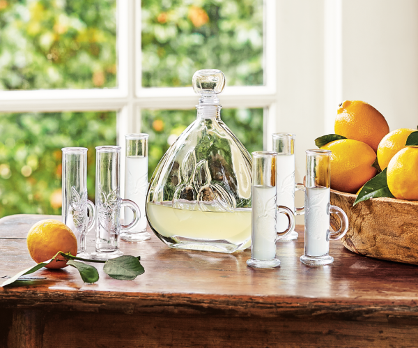 How to make limoncello and then put it in Napastyle's limoncello decanter and glasses.