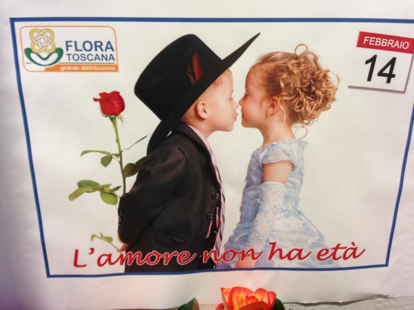 Here's a supermarket ad celebrating Valentine's Day Italian-Style, specifically Sansepolcro.