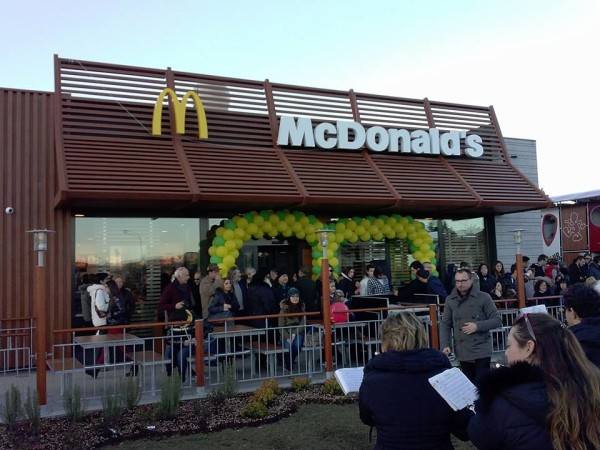 McDonald's landed in Citta di Castello more than a year ago to great fanfare.