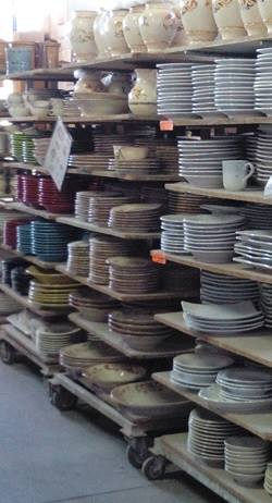 Walk into the Bizzirri warehouse and pick out ready-made ceramic tableware or specially order your own set.