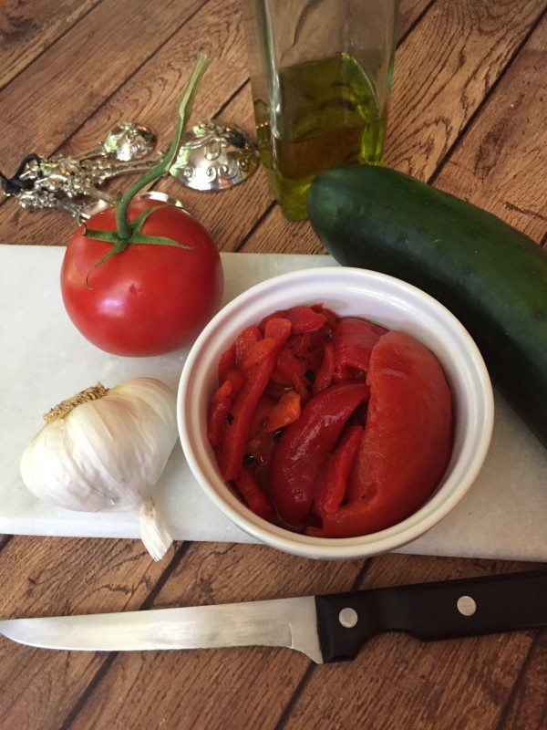 These traditional Italian ingredients--tomatoes, garlic and roasted peppers--are key ingredients of gazpacho.