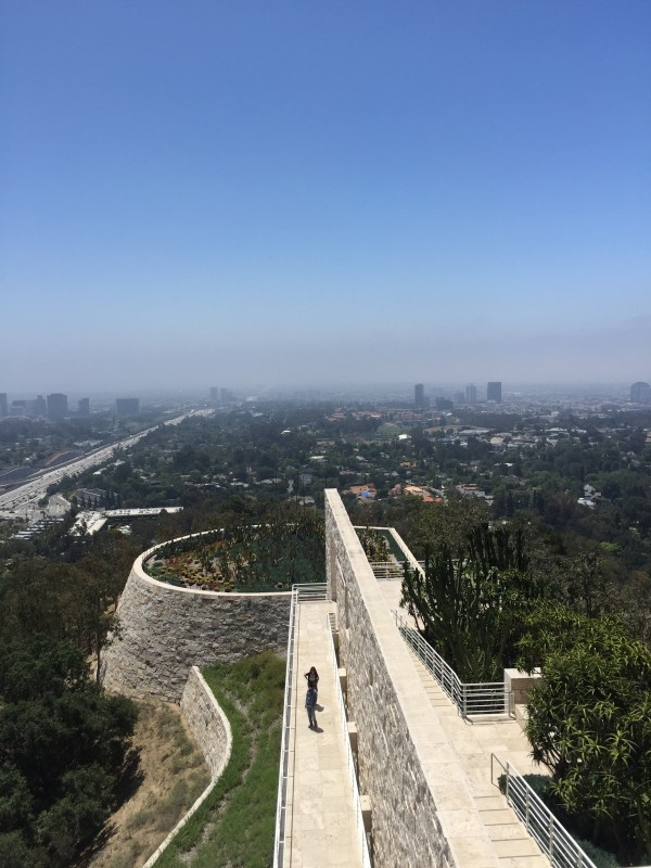 A beautiful view south from the Getty Museum, a place not to be missed.