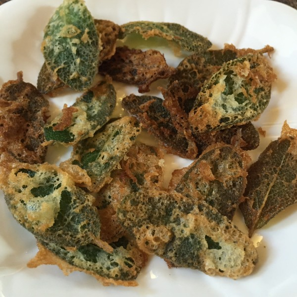 Fried sage leafs lets you enjoy one of the easiest of Italian recipes from an herb you can easily grow in your own garden.