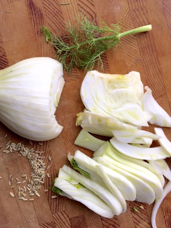 Here's a look at how your fresh fennel should be chopped for fennel sausage ragu.