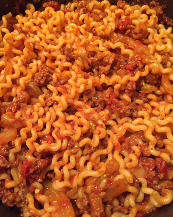 For fun, add the fennel sausage ragu to long pasta such as fusilli lunghi.