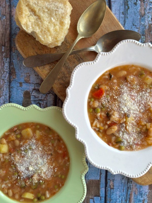 Minestrone Milanese is a hearty cold-weather vegetable soup from the North, a great Italian recipe.