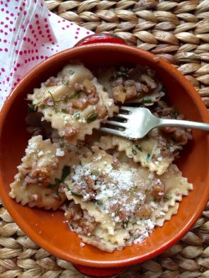 You will love this ravioli with walnuts dish.